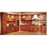 Gabinetes de cozinha clássicos da alta qualidade da madeira contínua da cereja de Grandshine