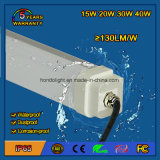 15W IP65 Waterproof LED Tri-Proof Light Fixture com 5 anos de garantia