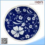 Reticolo blu e bianco della mandala del tovagliolo di spiaggia rotondo turco della porcellana del cinese