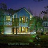 빨강과 녹색 이동하는 개똥벌레 크리스마스 정원 레이저 광