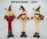 Большое стоящее украшение Figurine-3asst. с Рождеством Христовым