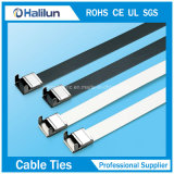 Ss PVC Coated Wing Lock Cable Tie para Banding Wires