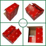 Cadre de empaquetage se pliant de carton d'expédition ondulée de papier coloré