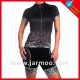 ジャージーを自転車に乗るカスタムロゴの印刷の不足分の袖