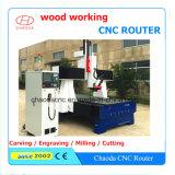 Máquina del grabador del ranurador del CNC de barato 4 ejes para los muebles de madera