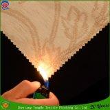 Tejido de poliéster de revestimiento de lino que acuden a prueba de agua P. cortina del apagón de la tela