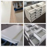 Hoge Glanzende Witte MDF van de Lak Moderne Aangepaste Keukenkast