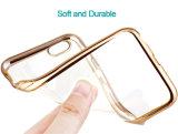 TPU suaves ultra delgados electrochapan la caja de la contraportada del diamante de la flor para el iPhone 6 6s 6 6s más más