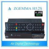 Melhor Nova Versão H. 265/Hevc DVB-S2+S2 Sintonizadores Twin Zgemma H5.2s SO Linux E2 Receptor de Satélite