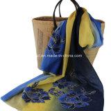 Poliéster teñido de encaje bufanda de encaje (AJC10021335)