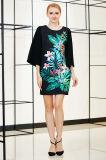 Платье переноса флористической печати размещения с твердой втулкой колокола