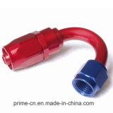Alluminio An6 montaggi di estremità del tubo flessibile della parte girevole di flusso completo di 150 gradi
