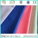 Poids léger 100 % Polyester enduit PU 190T taffetas de tissus pour vêtements Veste utilisé