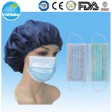 Blue/Green/White Disposable Nonwoven 3-Ply Face MASK with Earloop