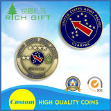 それの星が付いている敏感で旧式な真鍮の硬貨