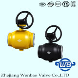 GOSTの天燃ガスのためのギヤによって作動させる十分に溶接された球弁