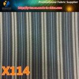¡Mercancías de los puntos! Tela de la ropa de la raya del poliester con de elección múltiple (X111-114)