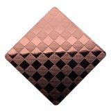 Placa de acero inoxidable cubierta color de acero de la hoja 304 del panal grabada