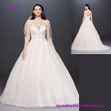 Trägerloser Schatz-Ausschnitt-geöffnetes zurück Hochzeits-Kleid