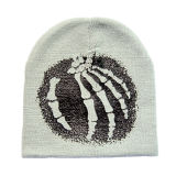 Chapéu de confeção de malhas listrado flangeando colorido (JRK180)