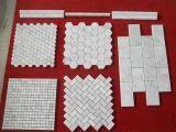 백색 대리석 모자이크 또는 Bianco 이탈리아 Carrara 대리석 모자이크