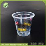 Tazze di plastica superiori stampate abitudine all'ingrosso del gelato del diametro 90mm con i coperchi