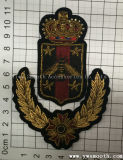 India Silk Personality Badge Fashion 3D Embroidery Badge Organizes Unifroms