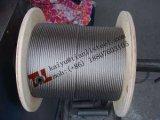 A4 1.4401 316 7X7 Fils en acier inoxydable recuit de 1.5mm corde avec la norme EN12385-4