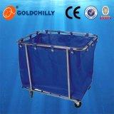 Ropa de cama de acero de fibra de vidrio Hospital Hotel carrito Carrito de Lavandería Servicio de lavandería