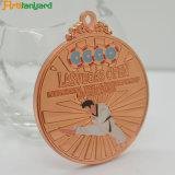 Médaille de souvenirs d'argent plaqué avec ruban