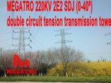 Torretta di potere di sforzo di CC di Megatro 220kv 2e2 Sdj