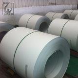 Revêtement en PVC blanc cassé prépeint en acier revêtu de couleur pour le laminage de la porte de la bobine