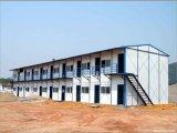 Estructura de acero de pared con aislamiento de casas prefabricadas