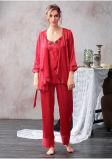 "pijamas 3PCS Sy10303663 de seda ""sexy"" das mulheres do Nightwear do projeto 2017new"