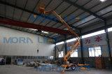 Levage remorqué par remorque aérienne diesel hydraulique d'homme manuel de la marque 12m de matin à vendre