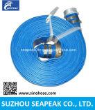 PVC Layflat Mangueira com cor azul