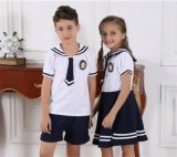 Garçon d'école primaire élégant personnalisé de mode et uniforme S53108 de la fille