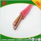 H07V2-U, fio do núcleo do condutor de cobre contínuo do PVC único