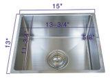 Dissipador de cozinha quadrado Handmade do aço 304 Nr-1501 inoxidável