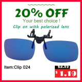 Promotion Polarized Clip on Sunglasses Eyewear Tac UV400 Driving Glasses
