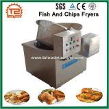 De commerciële Braadpannen van de Vis met patat van het Roestvrij staal van de keukenApparatuur