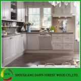 Gabinetes de cozinha lustrosos elevados da porta de gabinete da cozinha da laca do projeto moderno