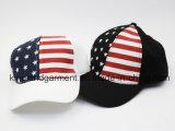 100% coton percer USA drapeau américain Casquette de baseball blanc