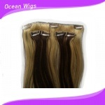 Human superiore 100% Virgin Remy Clips dentro su Hair Extension (CH-005)