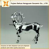 Christmas Decorのための陶磁器のMilu Deer Sculpture