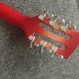 Rouge de corps creux 12 cordes R360 Jazz guitare électrique (GR-14)