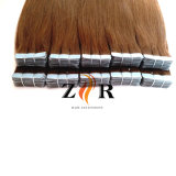 De bruine Uitbreiding van het Haar van de Band van het Haar Weft Pu van de Huid van de Kleur