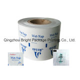 Papel laminado de aluminio Envases Pad de preparación de alcohol, alcohol, la desinfección la desinfección de notas, las toallitas húmedas