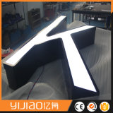 Lettrage LED personnalisé à la lumière du front