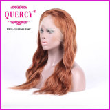 Peruca natural do laço da parte dianteira do cabelo do Virgin do ser humano da onda 100% da cor da forma